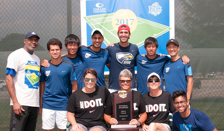 The Oxford's men's tennis team won the NJCAA Division III tournament for the third year in a row.