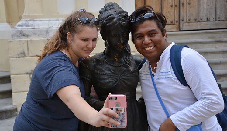 Students visited Cuba as part of the Evolution of Revolution Spanish class.