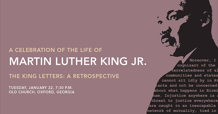 On January 22, an evening service in Oxford's Old Church will further celebrate the life of Martin Luther King Jr.