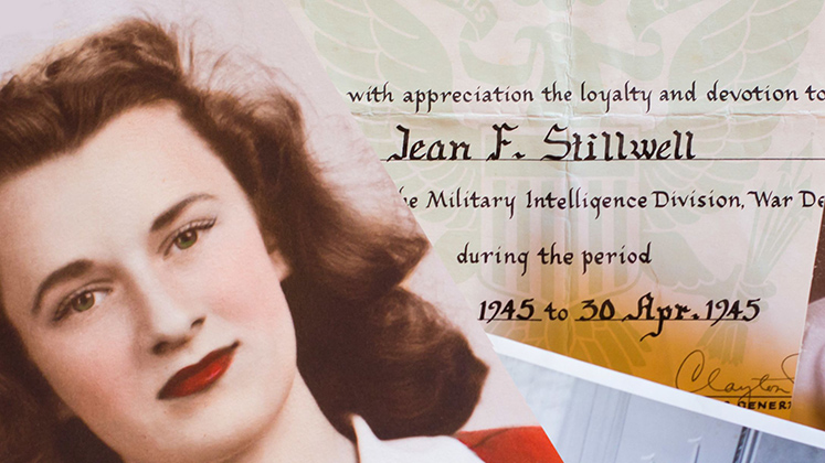 Jean Stillwell worked with the US Army Signal Corps during World War II